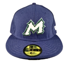 Mountain West New Era 59FIFTY Baseball Academy Size Fitted Hat Navy Blue - $9.99