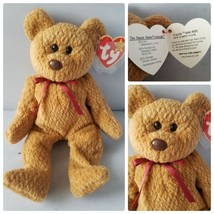 Ty Beanie Baby Curly Brown Bear Original Rare Tag Errors 4th Generation ... - $123.97