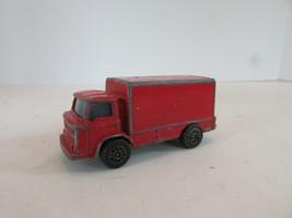DIECAST CORGI JUNIOR RED LEYLAND TERRIER BOX TRUCK MADE IN GREAT BRITAIN - $6.81