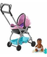 Barbie Skipper Babysitters Inc. Pink Stroller Playset - $17.77