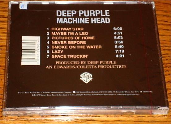 DEEP PURPLE MACHINE HEAD CD STILL FACTORY SEALED!