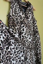 NWT Adrianna Papell Leopard Cheetah Print Long Tunic Top Swim Cover Up Dress 6 - $89.00