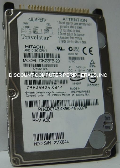 Rare Hitachi DK23FB-20 20GB 2.5IN IDE Drive Tested Free USA Ship Our Drives Work