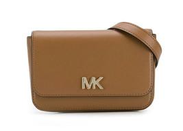 Michael Kors MOTT Saddle Brown Leather Belt Bag Gold-Tone Hardware 30S8G... - $74.24