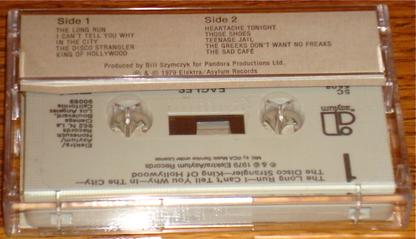 EAGLES THE LONG RUN ORIGINAL CASSETTE  1979