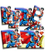 SUPERMAN SUPERHERO LIGHT SWITCH OUTLET WALL PLATE COVER BOYS BEDROOM ROO... - $8.09+