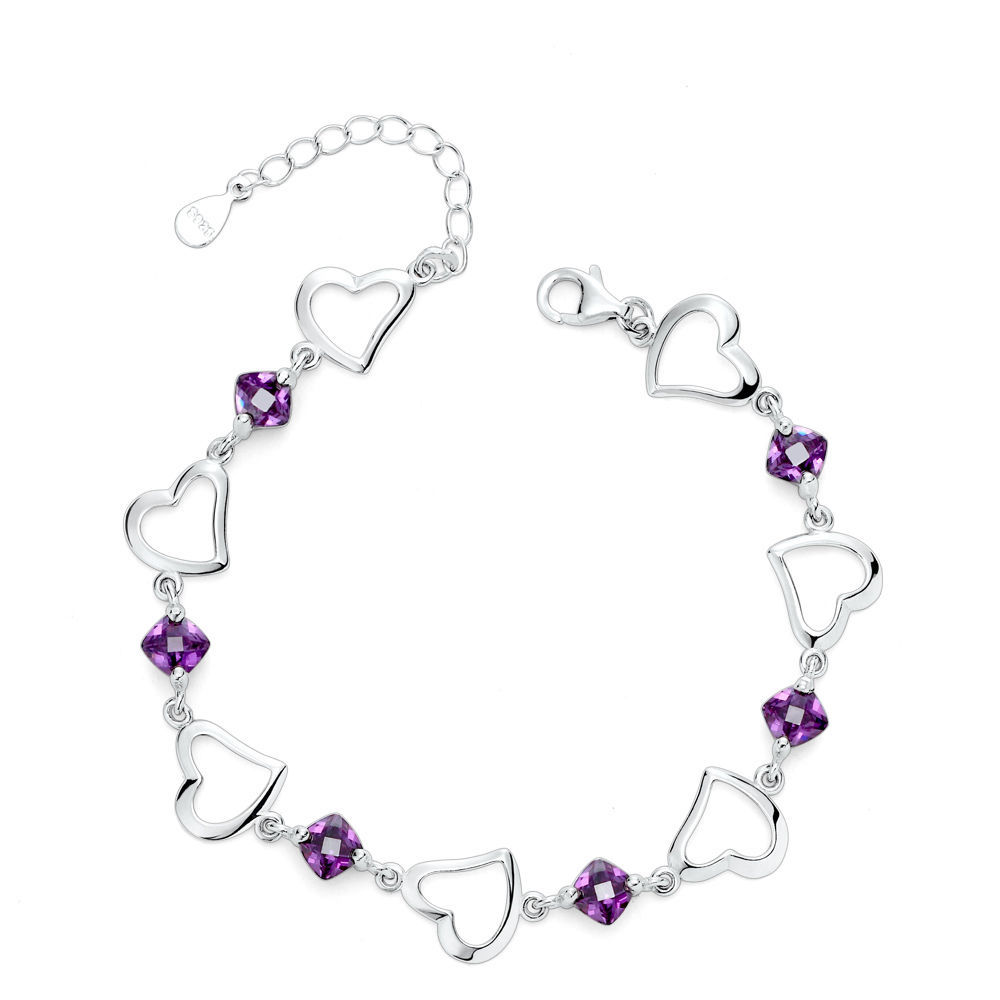925 Sterling Silver Bracelet with Top Quality Zircon DL2