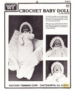 CROCHET BABY DOLL BONNET BLANKET & GOWN - $0.00