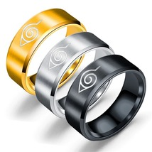 Anime Ninjia Ring Accessories Fashion Stainless Steel Colorful Jewelry 8mm - $17.99