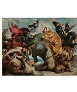 Postcard - Tiger Hunt, Peter Paul Rubens, Flemish Hartford, Connecticut - $10.84