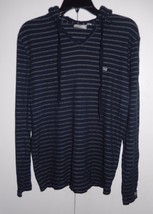 VANS Lightweight Long Sleeve Navy Pullover Striped Hoodie Jacket Size Me... - $13.74