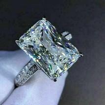 14K White Gold Finish 5Ct Radiant Cut VVS1/D Diamond Solitaire Engagemen... - $132.99