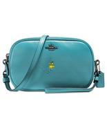 NWT Coach X Peanuts snoopy Crossbody ocean blue woodstock wristlet bag - $195.00