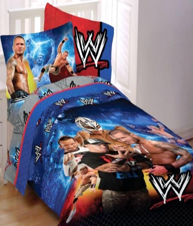 wwe wrestling champions full comforter sheets 5pc bedding