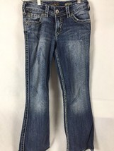 Silver Women's Jeans Denim Suki Surplus Sz 26x32 (28x28act) Med Distress... - $16.82