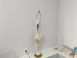 Vintage  Brass and Ceramic Table Lamp - $29.69
