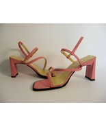 NWOB ANN MARINO ROSE PINK LEATHER STRAPPY SANDALS 6M - $19.99