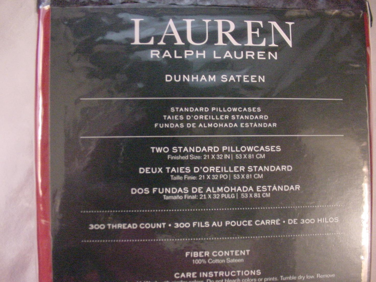 Ralph Lauren Dunham Admiral Red Pillowcases Standard