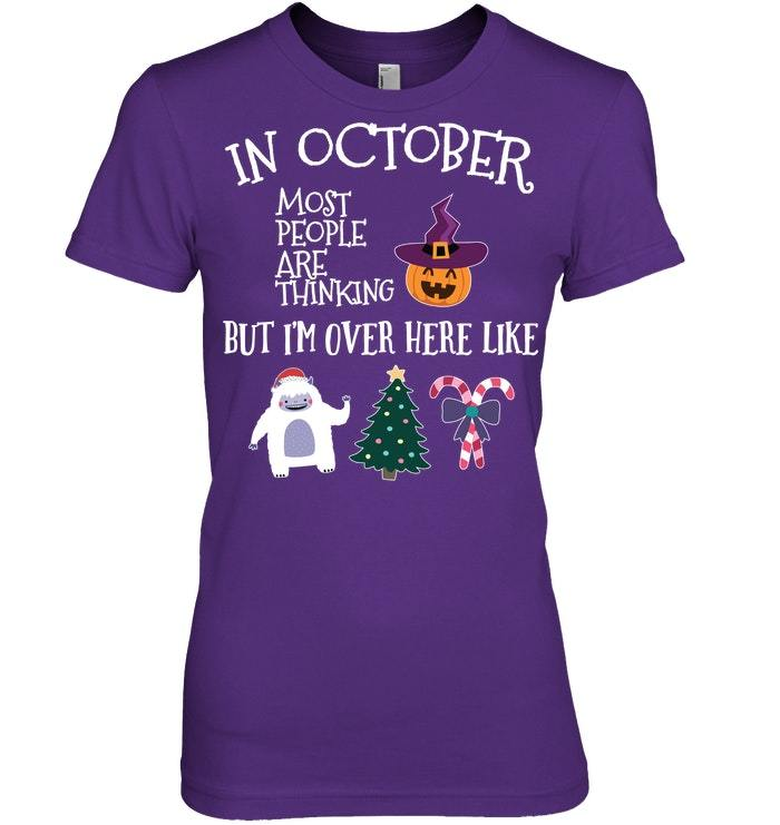 Funny Halloween Tshirt For Christmas Lovers In October