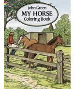 Dover Nature My Horse Coloring Book by John Green (1994 Paperback) - $4.99