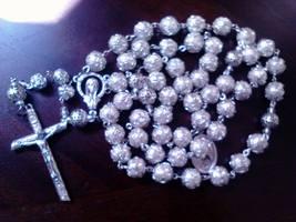 Silver Shimmer Rosary - $52.75