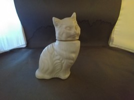 AVON Decanter KITTEN LITTLE Cat White Milk Glass 1972 Figurine Animal - $5.00