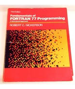 Vintage Fortran 77 3rd Edition College Engineering Text Book 1985 Struct... - $26.99