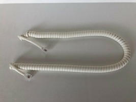 New 12' Handset Receiver Curly Cord for Panasonic Phone - off white color - $2.75