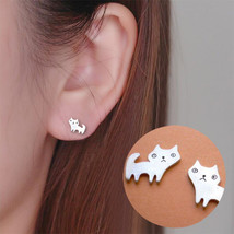 Shuangshuo Cat Stud Earrings Women Cute Small Animal Fashion Jewelry Pet Earring - $7.99