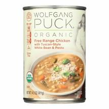 Wolfgang Puck Organic Soup - Wheat Bean And Pesto - Case Of 12 - 14.5 Oz. - $55.96