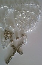 Crystal and Roses Rosary - $22.90
