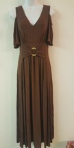 Liz Lange Women's  Cold-Shoulder Ultimate Maxi Dress Brown Size  S HSN - $44.55