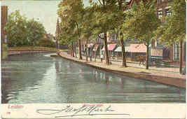 Leiden Nieuwe Rijn vintage 1905 Post Card - $6.00