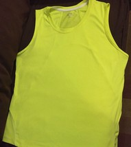 Neon Yellow loose fit Sleeveless Performance Wear Champion Top Size XL N... - $12.86