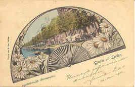 Groete uit Leiden vintage 1902 Post Card - $6.00