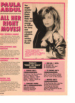 Paula Abdul teen magazine pinup clipping All her right moves 90's