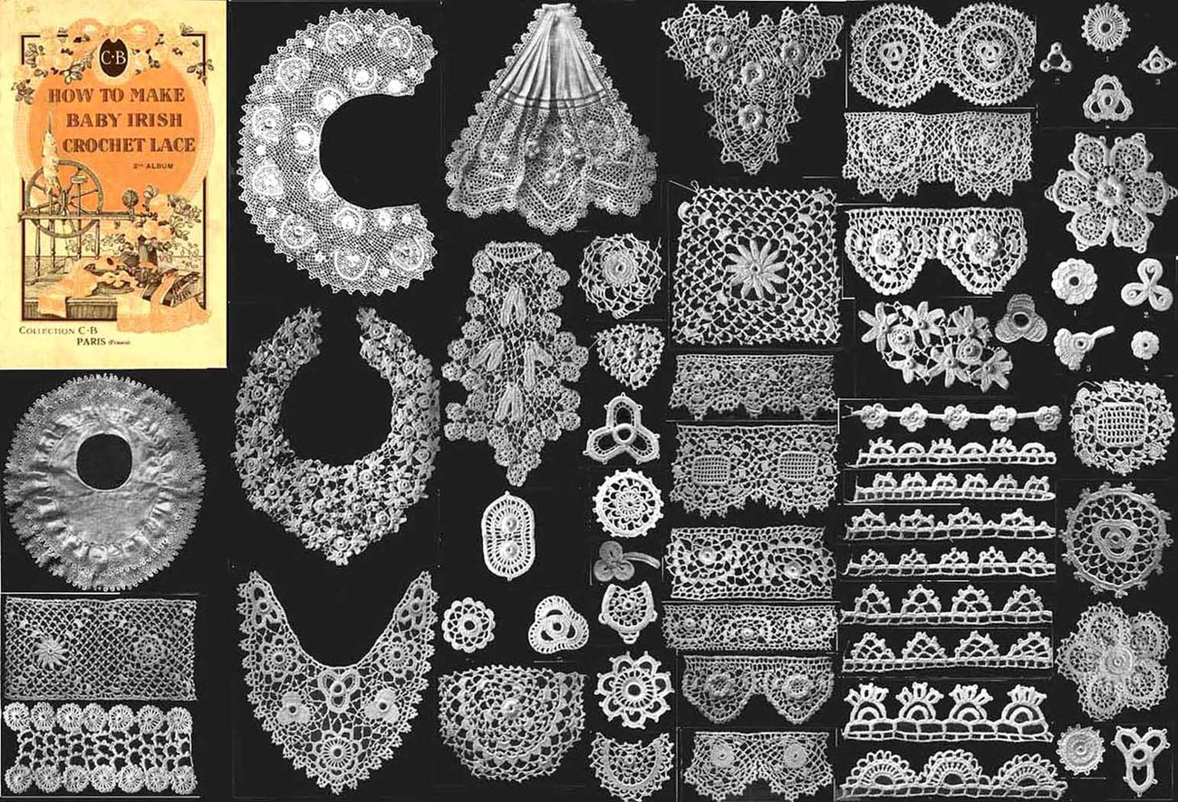Irish Crochet Book Baby Lace Laces Victorian And 27 Similar Items