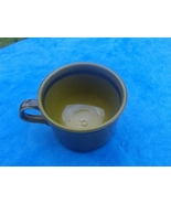 Moss Green USA Ceramic Mug Cup Vintage  - $1.99