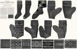 Victorian Stocking Book Knitting Sock Patterns 1910 5 - $12.99