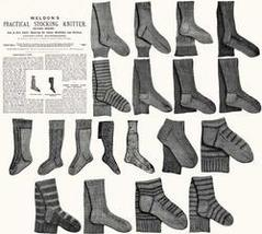 Victorian Stocking Book Knitting Sock Patterns 1910 3 - $12.99