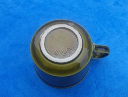 Moss Green USA Ceramic Mug Cup Vintage