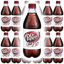 Diet Dr. Pepper Soda, 20oz Bottle Pack of 12, Total of 240 Fl Oz