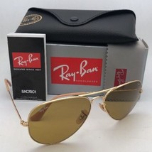 Photochromic RAY-BAN Sunglasses RB 3025 LARGE METAL 9064/4I 58-14 Gold A... - $189.95