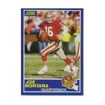 Joe Montana San Francisco 49ers (Football Card) 1989 Score #1 - $5.99