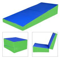 "48""x24""x14"" Folding Incline Gymnastics Mat Ramp Wedge Tumbling Mat Slope... - $119.99"