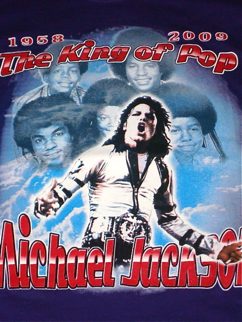 MICHAEL JACKSON T-SHIRT DOUBLE SIDED BRAND NEW SIZE MEDIUM