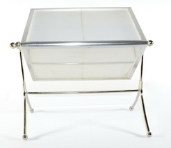 Vintage Home Chrome Metal Table Desk Top Rolling Frame Picture Frame 3 P... - $11.88