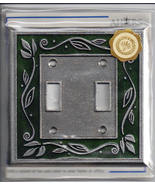 Switch Plate Solid Pewter Double Toggle Heavy I... - $14.99