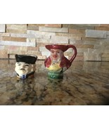VINTAGE Cup JUG Man mini Pitcher figurine ENGLAND Set of two - $8.82
