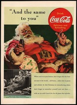 Vintage magazine ad COCA COLA from 1939 picturing Santa Claus by Haddon ... - $13.49